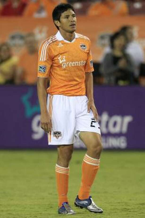 Brian Ching hopes to be healthy enough to play Saturday against Chivas USA. Photo: Michael Paulsen, Chronicle