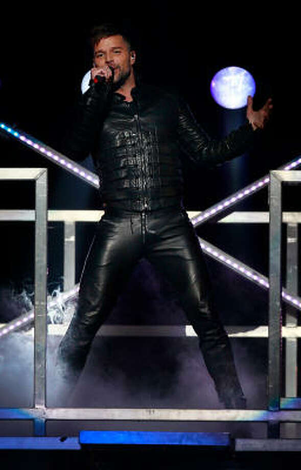 "Ricky Martin brought his ""Musica + Alma + Sexo"" tour to the Toyota Center on Saturday night. Photo: Mayra Beltran, Chronicle"