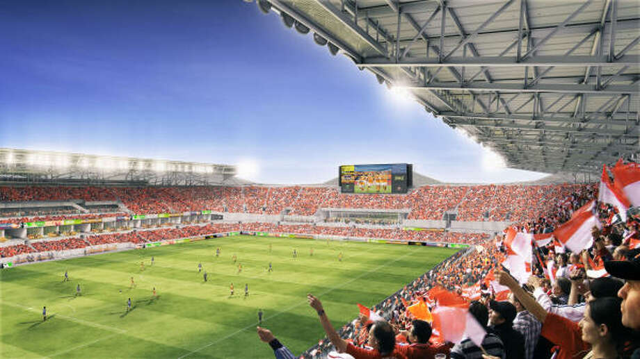 The stadium will have 22,000 seats but will have the ability to expand capacity to 30,000. Photo: Alan.tansey, Courtesy Houston Dynamo