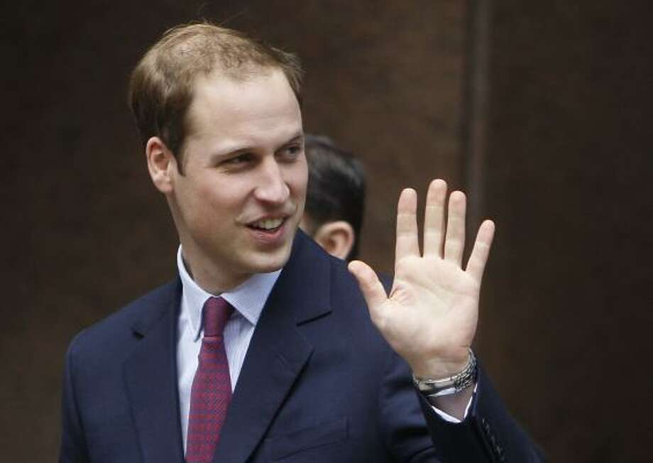 Thinning hair doesn't appear to have hurt Prince William's self-confidence. Photo: Alastair Grant, ASSOCIATED PRESS