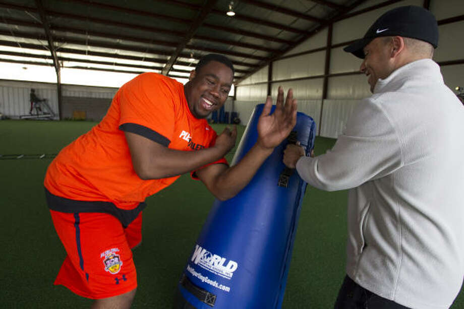 Nick Fairley moved to Houston to train for the combine under the guidance of Danny Arnold. Photo: Brett Coomer, Chronicle