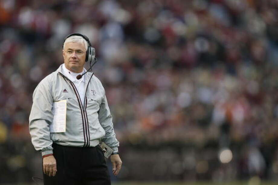 Dennis Franchione has sat out three years since his forced departure from Texas A&M. Photo: Chronicle File Photo