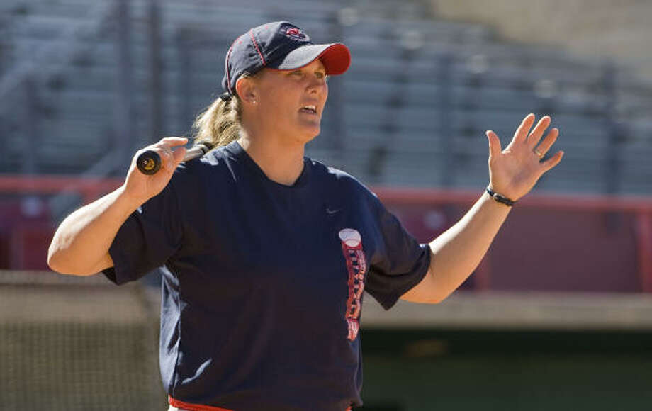 Kyla Holas is the only coach in the UH softball program's history. Photo: James Nielsen, Chronicle
