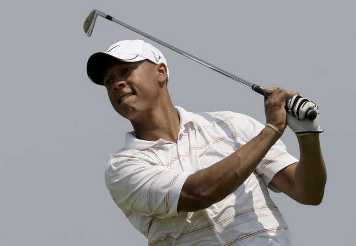 Vincent Johnson won the Advocate Tour tourney at Wildcat Golf Club on Sunday.