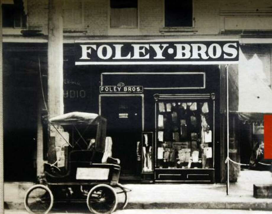 Foley Brothers Dry Goods Co. opened on Feb. 12, 1900. The photo is on display at the M.D. Anderson Library at the University of Houston. Photo: Johnny Hanson :, Chronicle