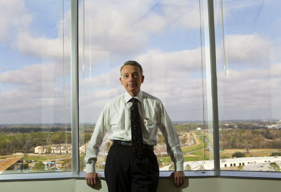 "Noble Energy CEO Charles ""Chuck"" Davidson made $11.4 million in direct compensation last year. His salary is more than six times the total revenue of the Houston public library foundation.  Photo: Brett Coomer :, Chronicle"