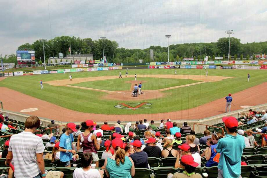The summer sky started to darken at the Tri-City ValleyCats vs. the Auburn Doubledays game at Bruno Stadium, Troy on Monday, August 1, 2011. (Erin Colligan / Special To The Times Union)