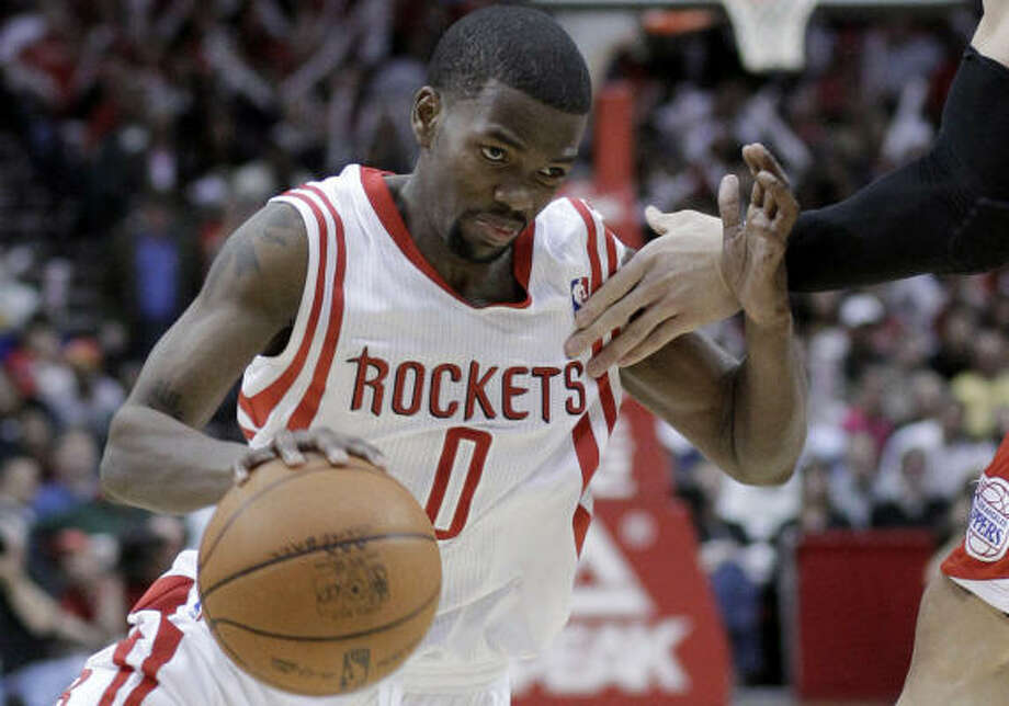 Aaron Brooks did not travel with the Rockets to Denver on Sunday. Photo: Pat Sullivan, AP
