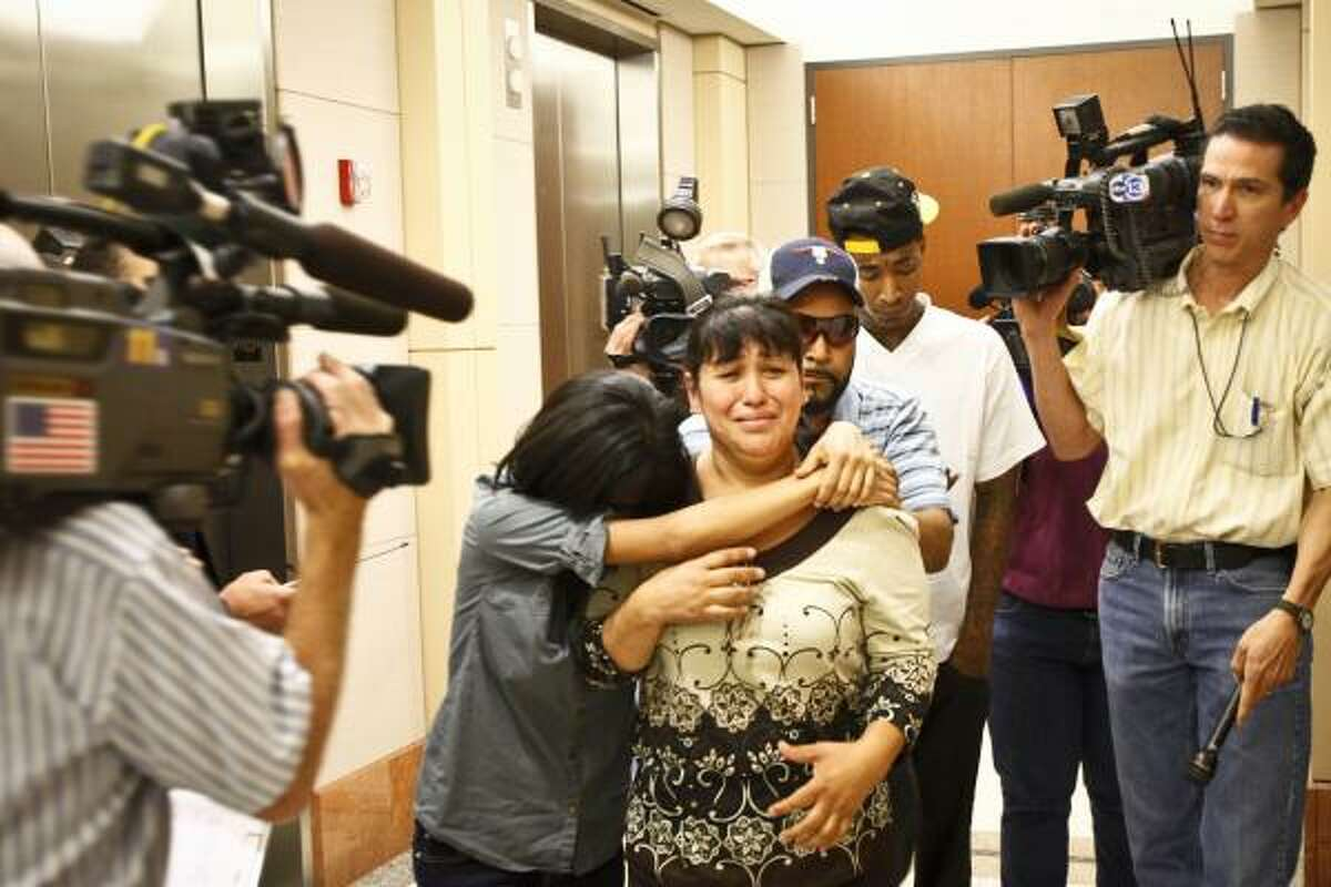 Johoan Rodriguez's mother left the courtroom in tears Wednesday after her son's arraignment.