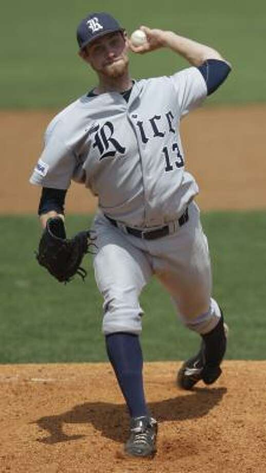 Rice pitcher Tony Cingrani enjoys the pressure-cooker of being a late-inning reliever. Photo: Melissa Phillip, Chronicle