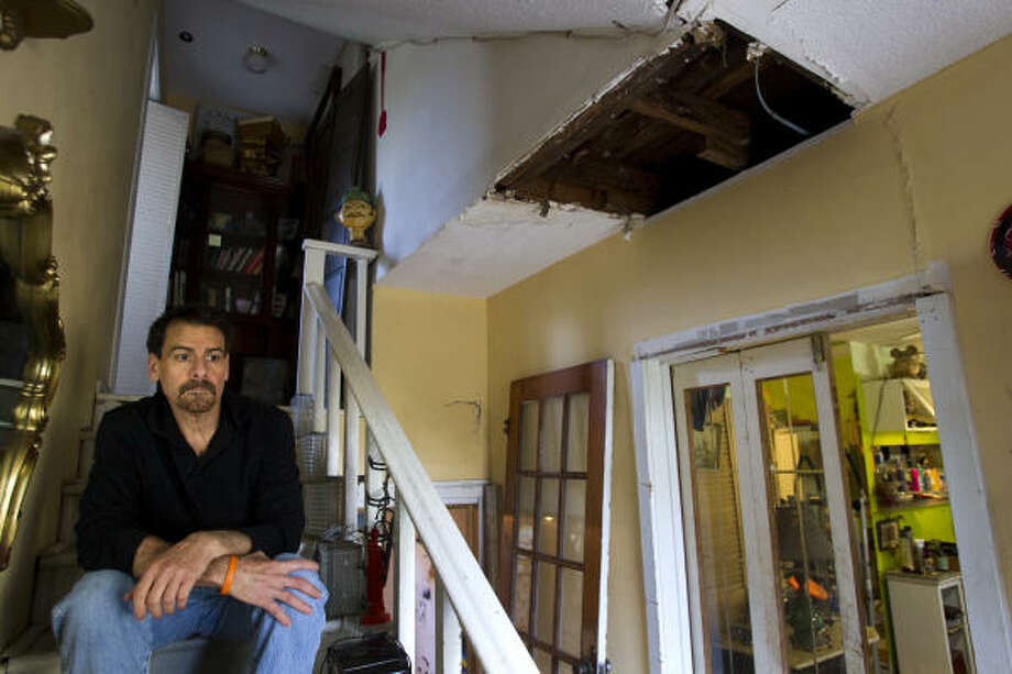 Myron Hershel lives in a Galveston home damaged by Hurricane Ike in 2008. Hershel applied for aid from the recovery fund, but any help now would come too late. Photo: Brett Coomer, Chronicle