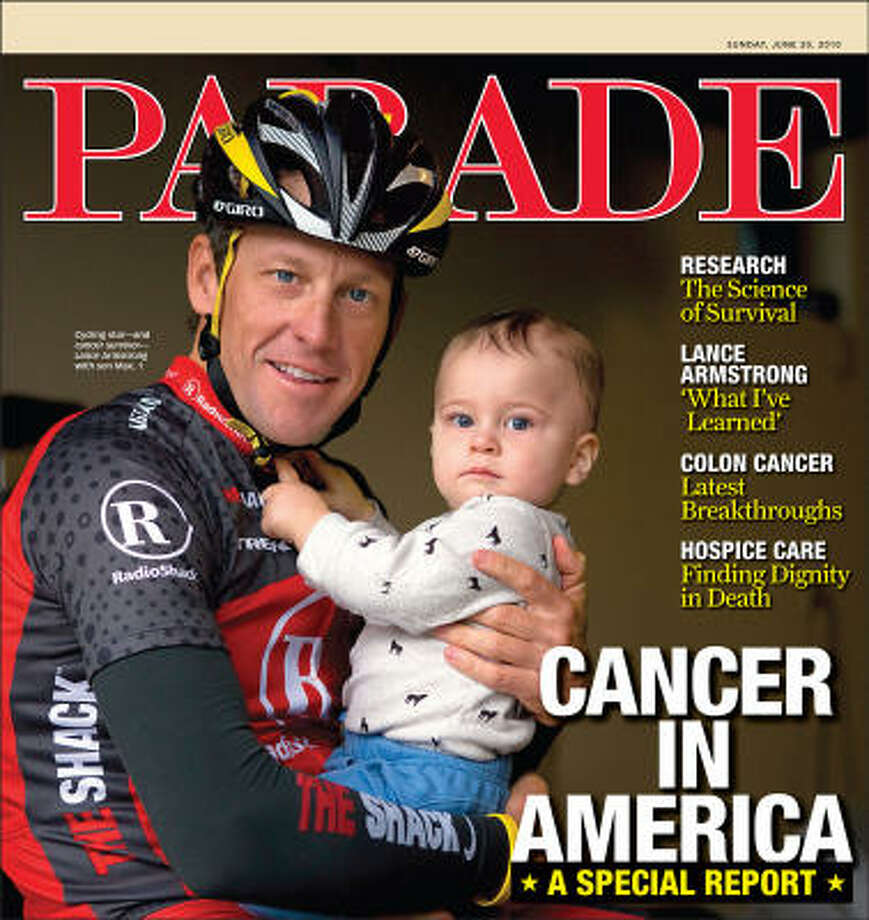 Whatever we think of the allegedly win-at-all-costs cyclist, Lance Armstrong the cancer survivor has offered hope to thousands, perhaps millions, of ill people. Photo: Parade Magazine
