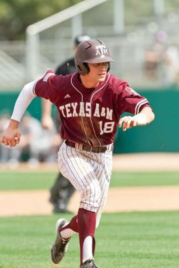 Texas A&M right fielder Tyler Naquin has garnered extra attention this season as his bat caught up with his arm. Photo: Texas A&M Athletics