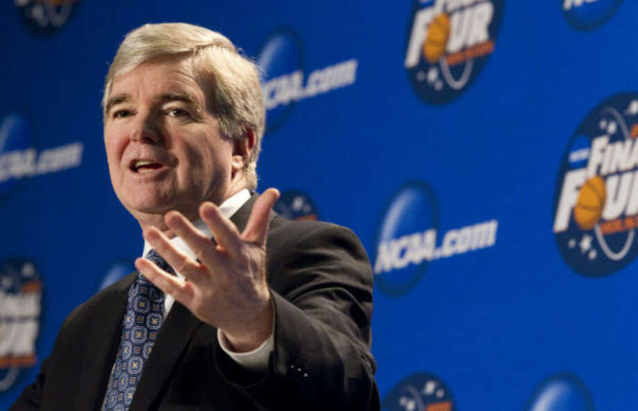 NCAA president Mark Emmert insists that because every case is different, so are the punishments. Photo: Brett Coomer, Chronicle