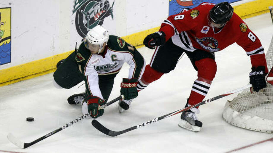 Aeros captain Jon DiSalvatore says the team needs to step up in Game 2. Photo: Melissa Phillip, Chronicle
