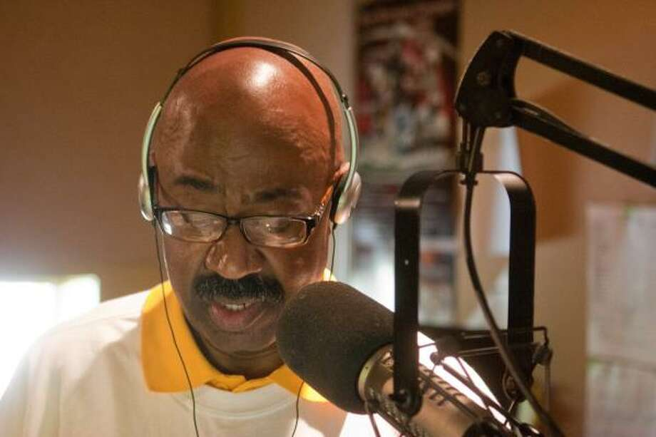 "R. CLAYTON MCKEE: FOR THE CHRONICLE TREATING LISTENERS WITH RESPECT: KTSU'S Myron Anderson has been hosting ""Listening Back with Myron"" for 30 years. Photo: R. Clayton McKee, For  The Chronicle"