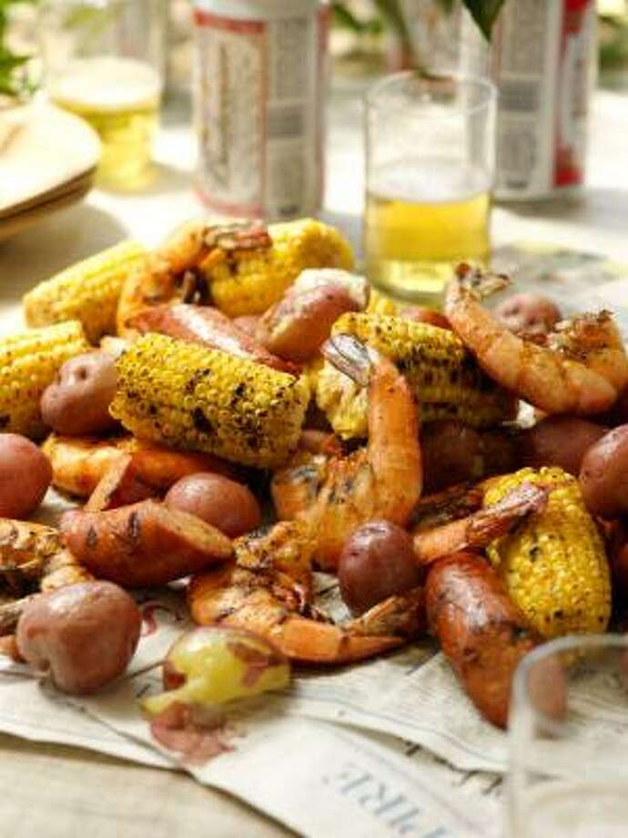 The Deen Bros. Grilled Low Country Boil Photo:  Ben Fink :, Random House