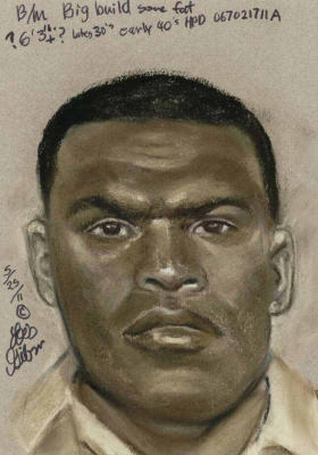 Houston police released a sketch of a man accused of trying to carjack a woman then shooting one of her relatives. Photo: Houston Police Department