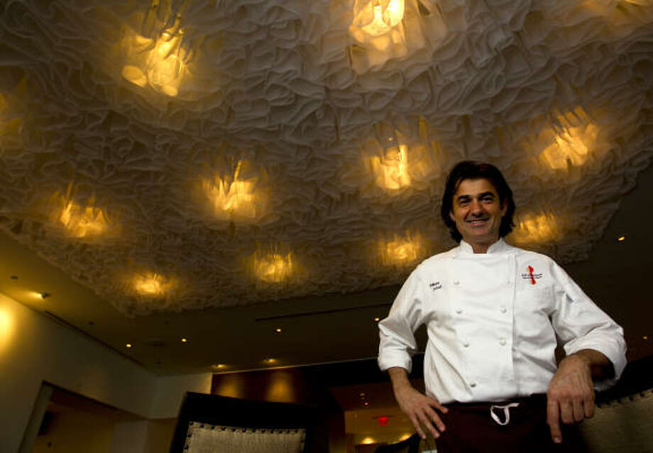 Chef Philippe Schmit is ecstatic to be back in the saddle in his own kitchen. Photo: Karen Warren, Houston Chronicle