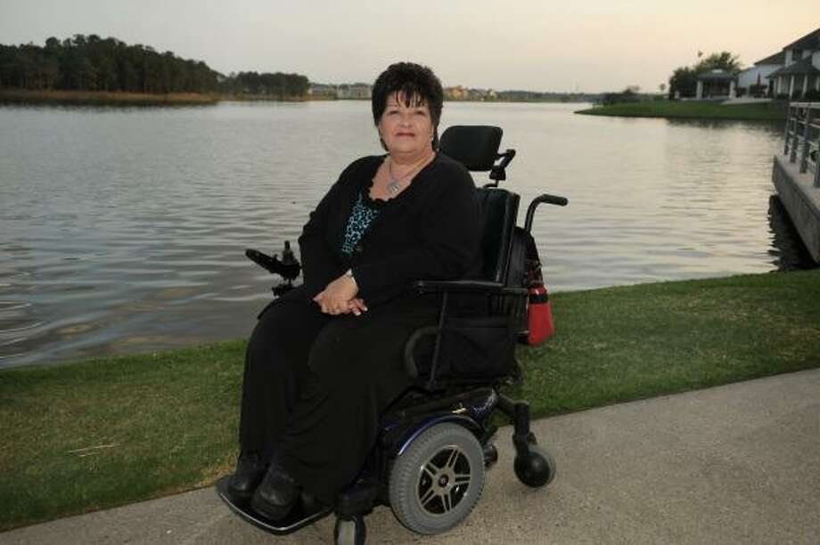 Pam Bullock of Spring is an entrant in the Ms. Wheelchair Pageant for Texas. Photo by Jerry Baker Photo: Jerry Baker, For The Chronicle