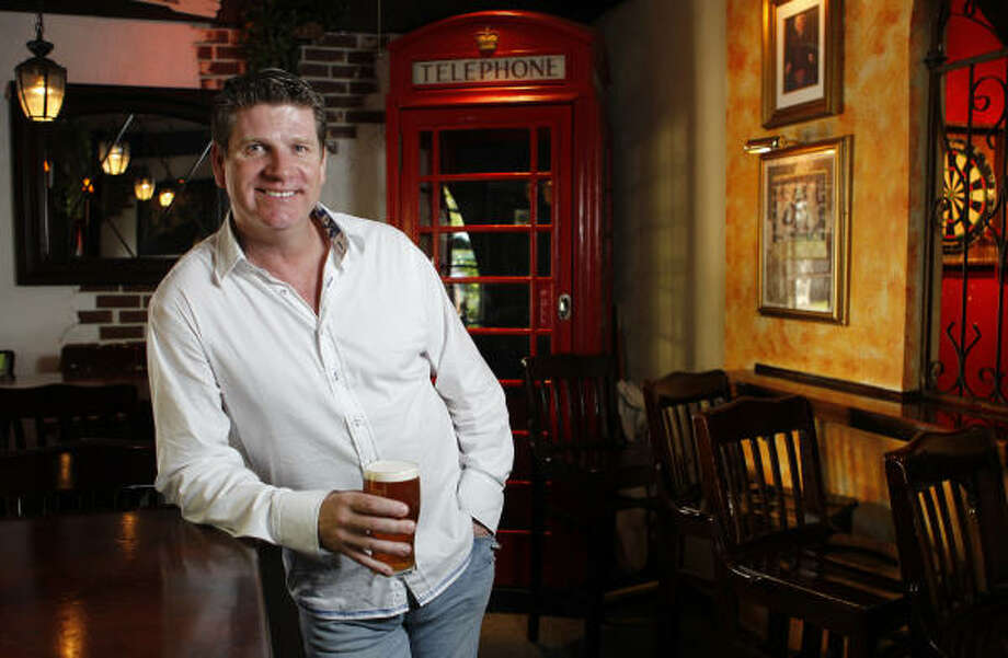 Craig Mallinson is the owner of the Red Lion Pub. Photo: Melissa Phillip, Houston Chronicle