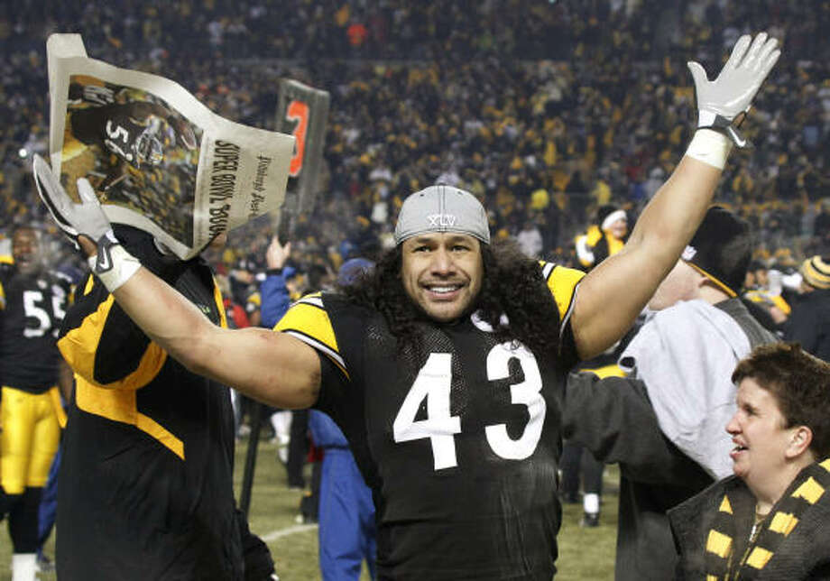 Safety Troy Polamalu became the sixth Pittsburgh Steeler to win the NFL Defensive Player of the Year award on Monday. Photo: Keith Srakocic, AP