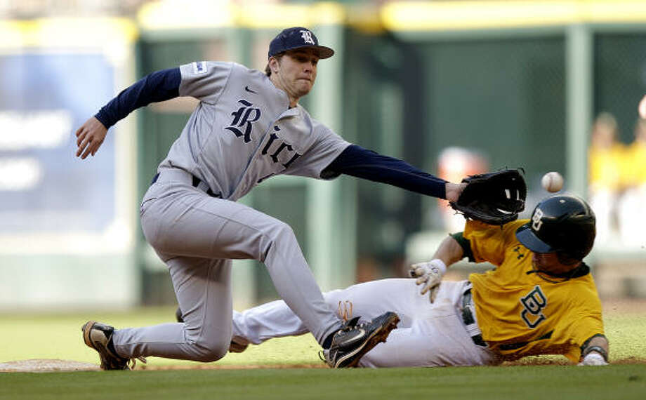 Rice stood just above .500 after Baylor slid past in extra innings earlier this season. Photo: Bob Levey, For The Chronicle