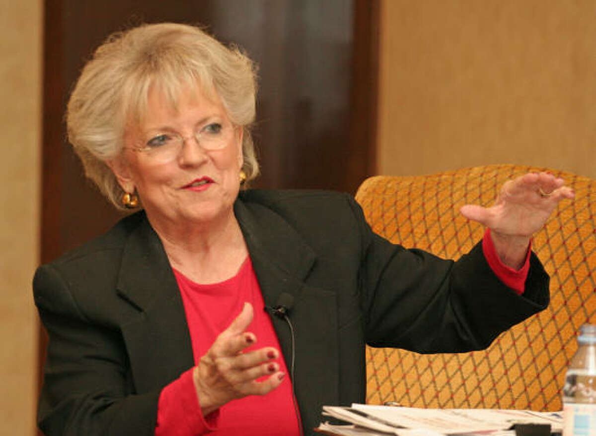 Carole Keeton Strayhorn, shown in 2006, said she worries about education cuts.