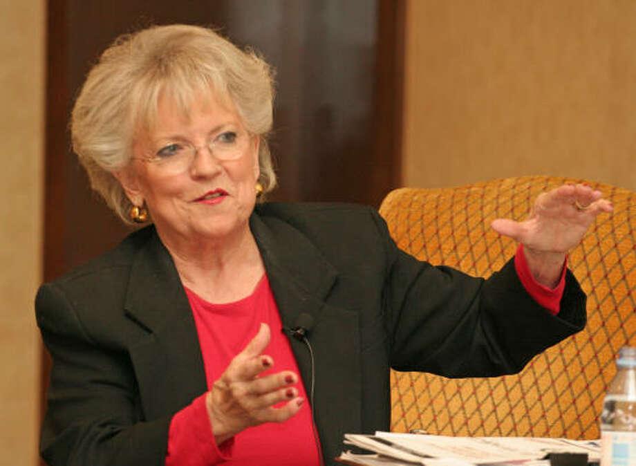 Carole Keeton Strayhorn, shown in 2006, said she worries about education cuts. Photo: Gary Fountain, Chronicle File