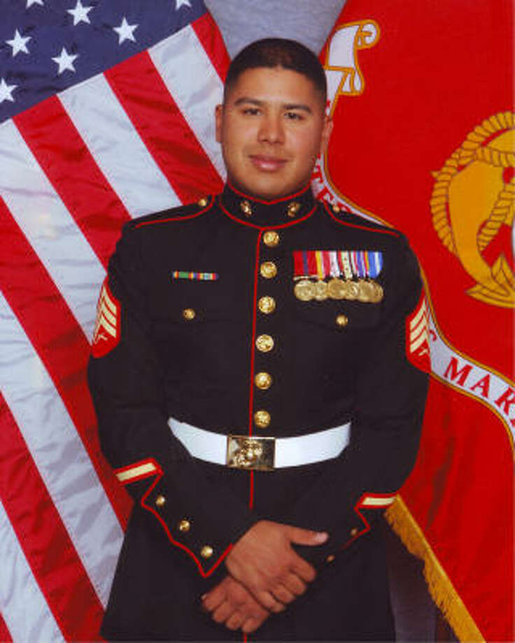 Marine Sgt. Alexis Fontalvo, 24, of Houston, survived four tours in Iraq and Afghanistan, but was killed during a training flight in California on Thursday, family members said.