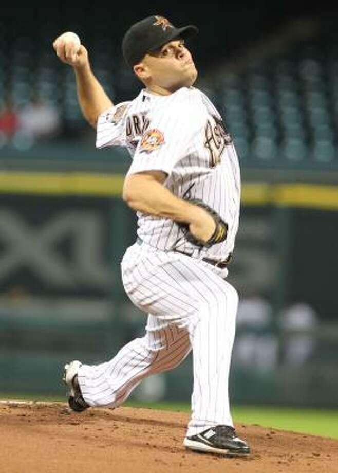 Astros pitcher Wandy Rodriguez finished the 2010 season with 13 consecutive quality starts and a 1.75 ERA in that stretch. Photo: Billy Smith II, Chronicle