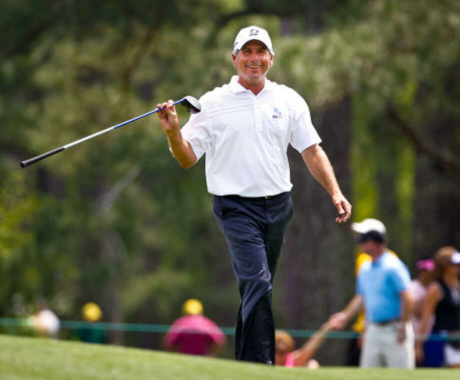Fred Couples was all smiles in the 15th fairway during the second round on Friday. Photo: Tim Dominick, MCT