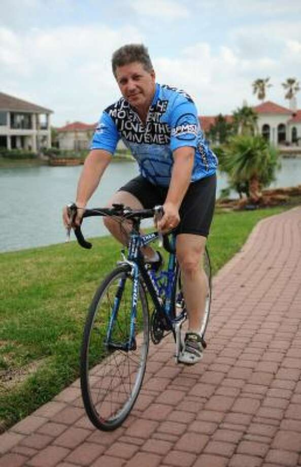 MAN WITH A MISSION: Don McAfoose is riding in his seventh BP MS 150. Photo: Thomas Nguyen, For The Chronicle