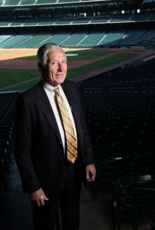 "Drayton McLane says owning the Astros has ""enriched my life."" Now he's preparing to relinquish center stage at Minute Maid Park. Photo: Mayra Beltran, Chronicle"