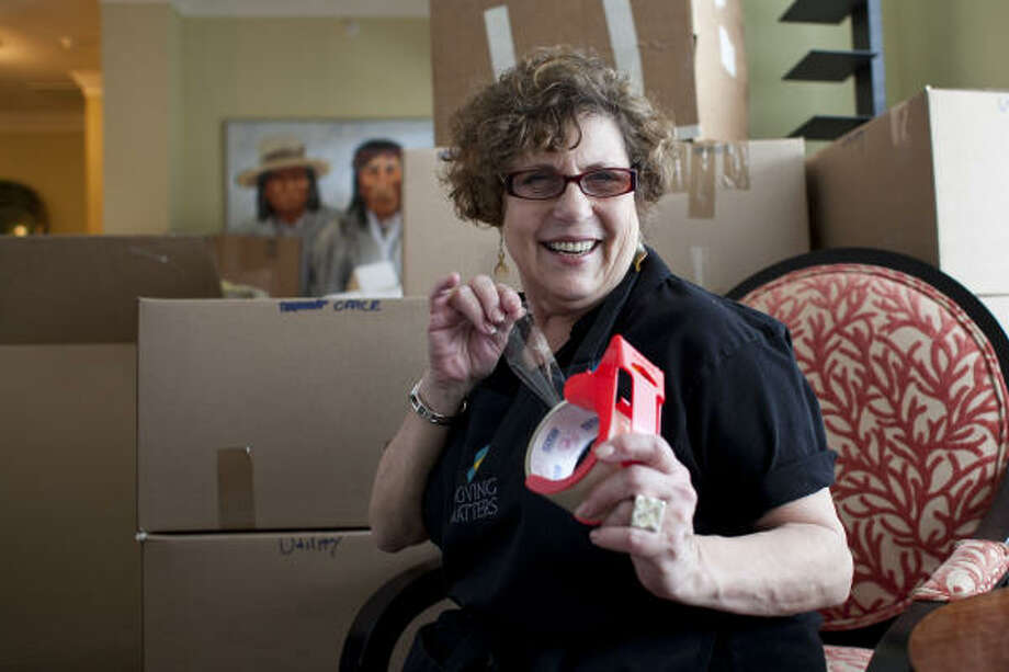 "Carol Brooks, who owns Moving Matters, says: ""There are as many reasons for seniors to move as there are senior citizens themselves."" Photo: Nathan Lindstrom, Chronicle"
