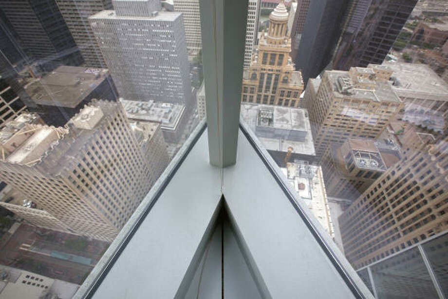 A view from the 39th floor of the BG Group Place building. Photo: TODD SPOTH