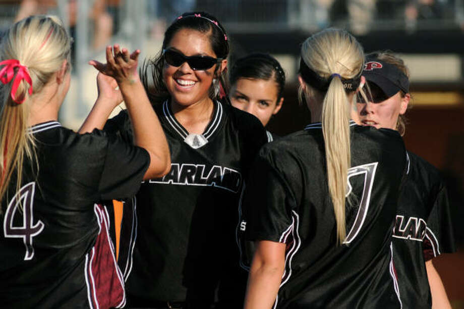Jessica Bowden and her Pearland softball teammates hope to return to Austin and defend their 2010 Class 5A state softball championship. Photo: Jerry Baker, For The Chronicle