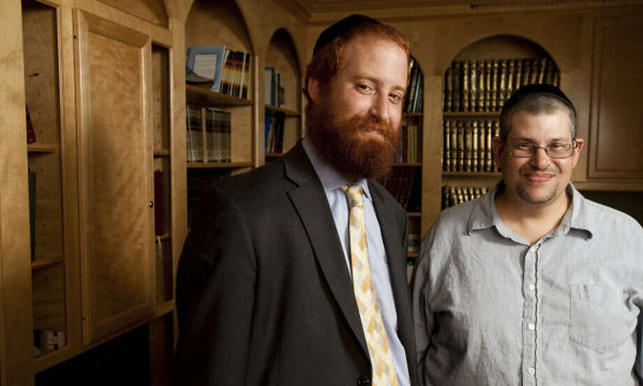 Rabbi Dovid Goldstein, of the Chabad House in Houston, will help Cliff Katz - who was released from prison two years ago - adapt to his return to society. Photo: Nick De La Torre, Chronicle