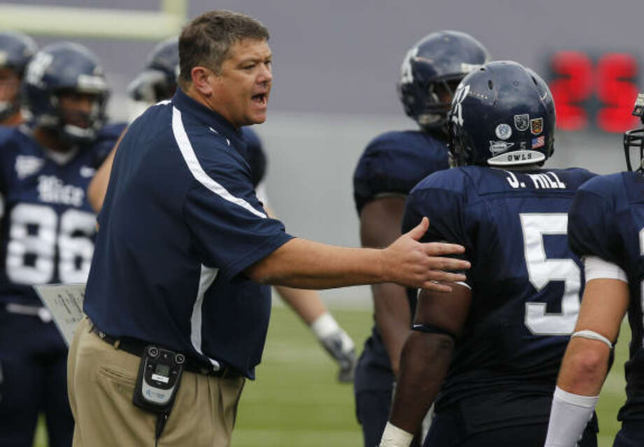 David Bailiff needs to fill three spots on his coaching staff. Photo: Melissa Phillip, Chronicle