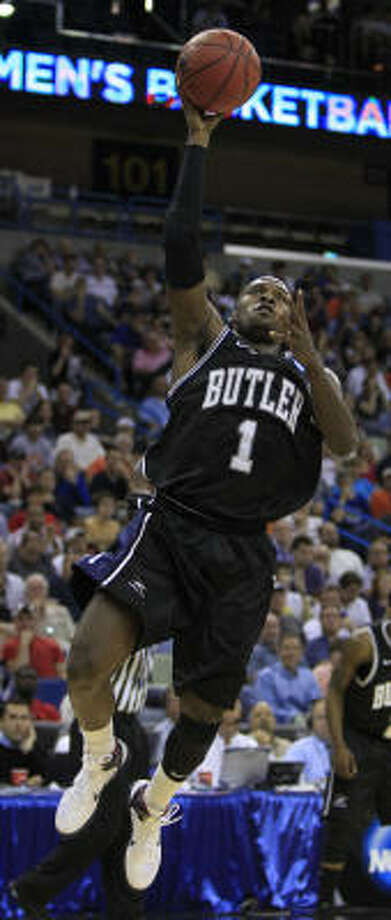 Butler guard Shelvin Mack has picked up his game in the NCAA Tournament, averaging 21.8 points in five games compared to 15.2 during the rest of the season. Photo: Brett Coomer, Chronicle