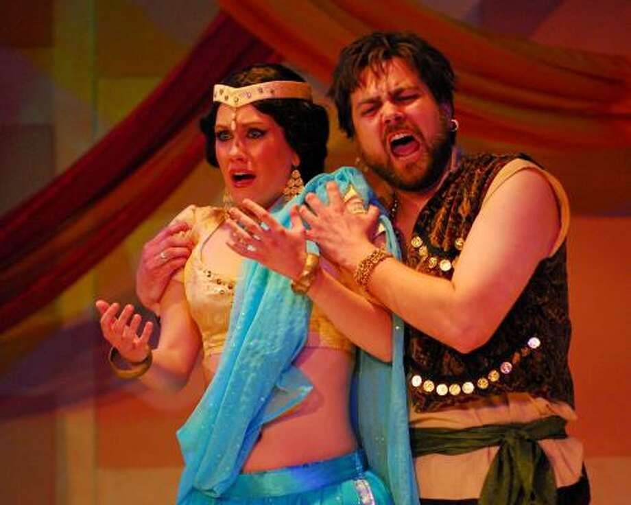 Abigail Dueppen and Brian Shircliffe star in The Pearl Fishers. Photo: Kinio Yonemoto