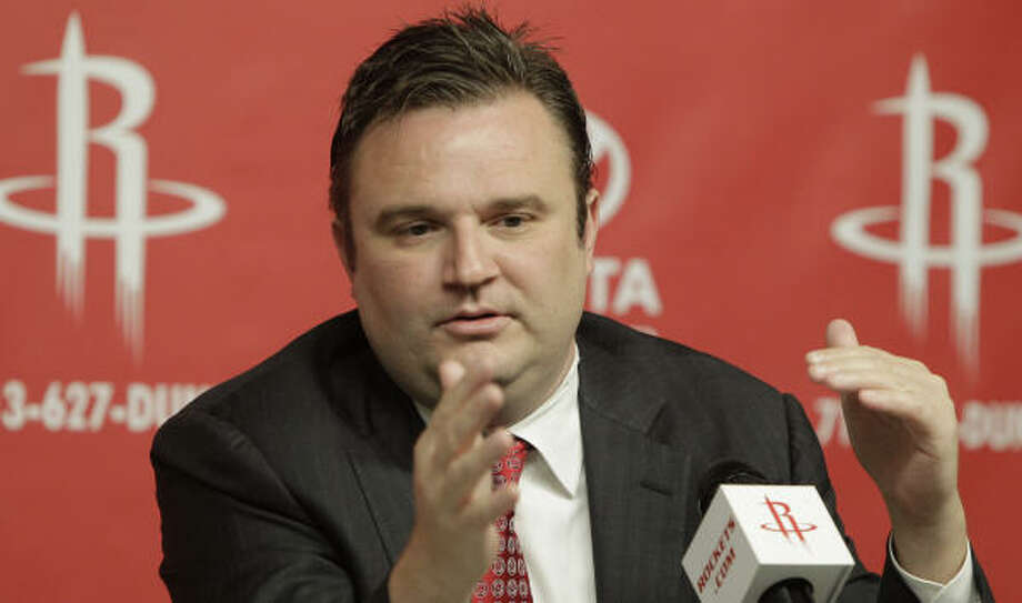 On Tuesday, Daryl Morey said the Rockets would continue to aggressively seek changes to the roster. Photo: Pat Sullivan, AP