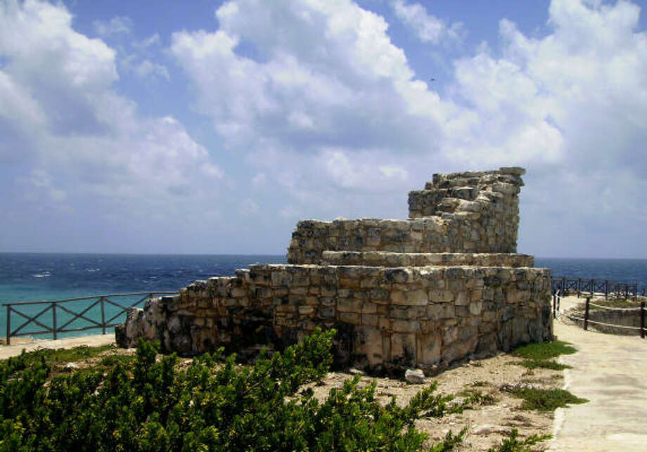 A temple to Ixchel, goddess of fertility, sits in ruins at the southern tip (Punta Sur) of Isla Mujeres in the state of Quintana Roo, Mexico. Photo: Cindi Christie, Contra Costa Times