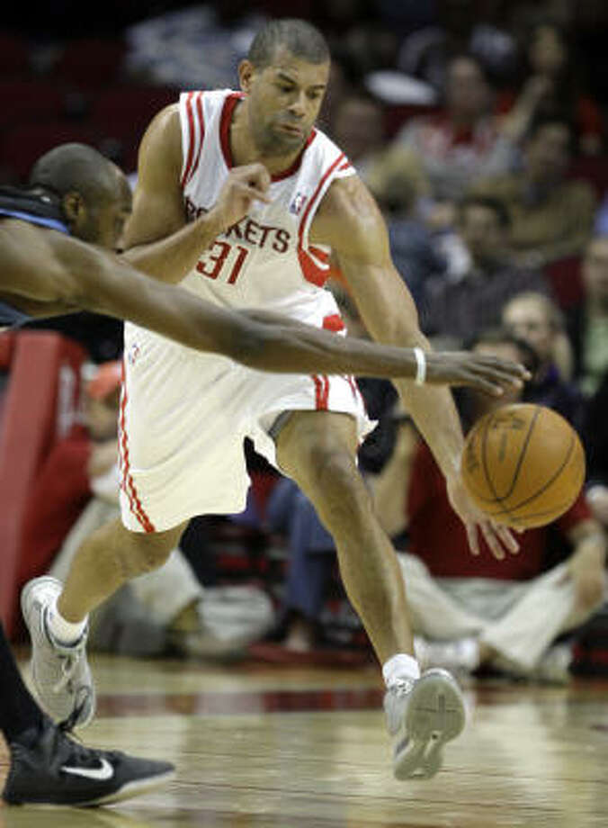 Shane Battier's greater value to the Rockets could be in acquiring a draft pick or young player, Richard Justice writes. Photo: Melissa Phillip, Chronicle