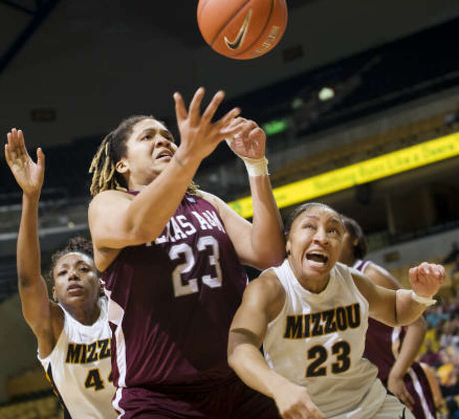 Danielle Adams had 19 points and six rebounds to lead No. 7 Texas A&M. Photo: L.G. Patterson, AP