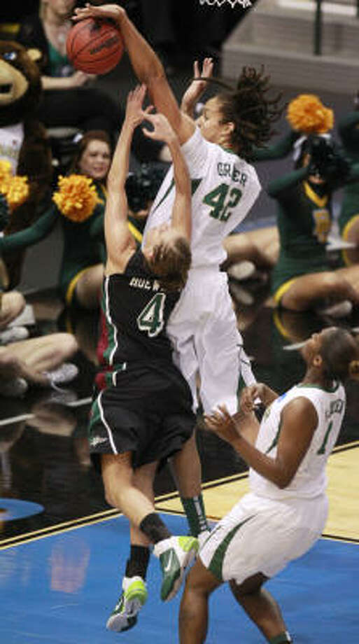 At 6-8, Baylor's Brittney Griner is a constant presence around the basket. Photo: Michael Ainsworth, MCT