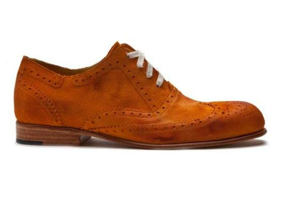 George Esquivel's orange suede wingtip Photo: George Esquivel
