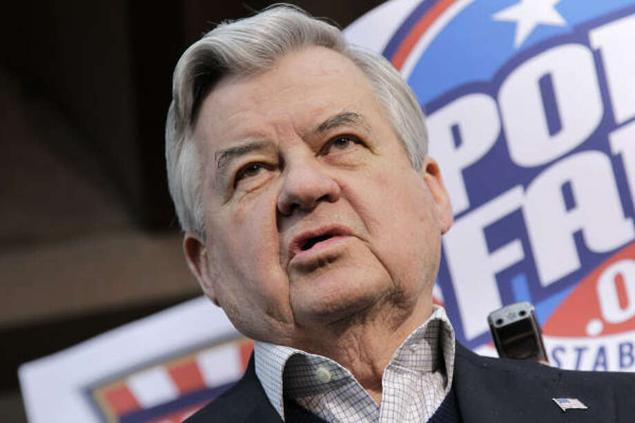 Carolina Panthers owner Jerry Richardson speaks with reporters as negotiations between the NFL owners and players go unresolved. Photo: J. Scott Applewhite, AP