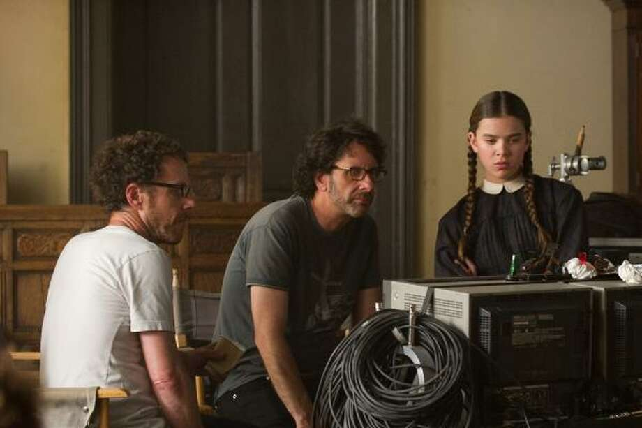 Directors Ethan Coen, left, Joel Coen said very few actors, adult or teenage, possess the ability to handle the dialogue in True Grit like Haliee Steinfeld did. Photo: WILSON WEBB :, PARAMOUNT PICTURES