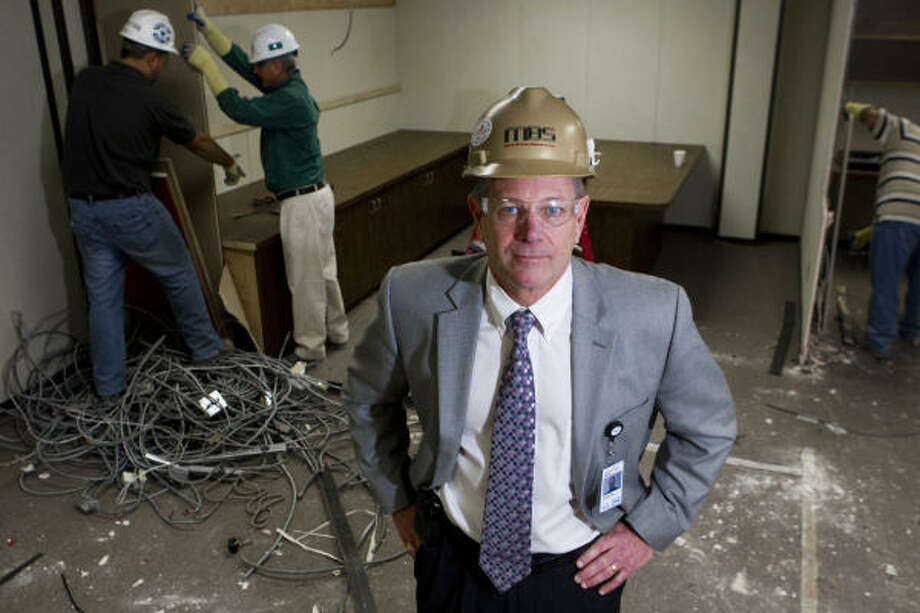 Mike Holland, division president of Marek Brothers Systems, a local commercial interior construction company, says the misclassification of workers as independent contractors by some rivals hurts those who follow the rules. Photo: Brett Coomer :, Chronicle